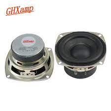 Ghxamp HI FI 4 Inch 6OHM 20 W Subwoofer Speaker Super Bass Sulit R Karet  Side Home Theater Woofer Audio Loudspeaker musik|Subwoofer