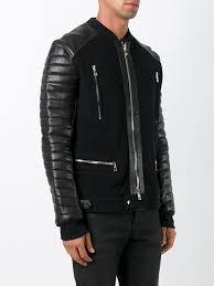 balmain knitted biker jacket men balmain jackets uk