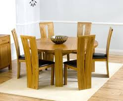 oak dining table 6 chairs solid round extending and chic at furniture pret