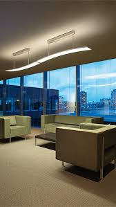 lighting in an office. modern luminaire for dynamic lighting adjust the intensity of light based on natural available in an office
