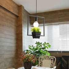 industrial iron e27 plant flower pot pendant light chandelier hanging lamp for restaurant bar cafe banggood com
