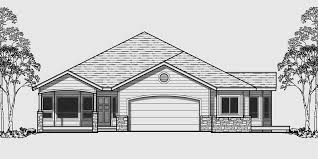 house front color elevation view for 10079 one level house plans side view house plans