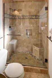 glass shower door and simple peach colored tiles design ideas for classy bathroom tile small bathrooms modest 10
