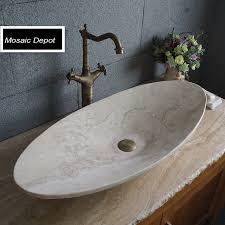 oval travertine sinks bathroom stone basin countertop sinks vanity sink bowl natural stone vessel bathroom washbasin