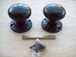 black door knobs. Heavy Duty Black Antique Cast Iron Round Mushroom Mortice Or Rim Door Knobs