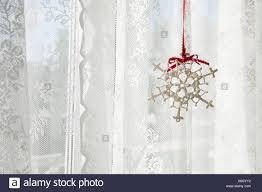 Schneeflocke Dekoration Im Fenster Stockfoto Bild 279426982 Alamy