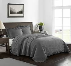 full queen grey modern farmhouse bed