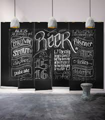 neoteric chalkboard wall decor black beer themed milton king mural wallpaper republic kitchen decorating idea hobby