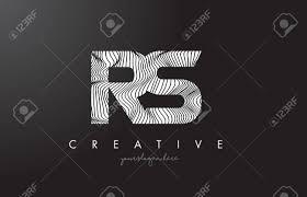 Rsrs ゼブラ線テクスチャ デザイン ベクトル イラストとロゴを手紙します