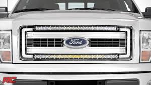 2013 F150 Light Bar In Bumper 2009 2014 Ford F 150 30 Inch Curved Single Row Led Light Bar Grille Mount Kit By Rough Country