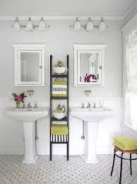 bathroom pedestal sinks with ladder storage for the new master bath