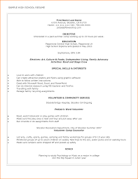 Examples Of Good Resumes Highschool Resume Examplesh School For College Admission Sample 76