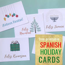 Free Holiday Photo Greeting Cards Free Holiday And Christmas Cards In Spanish