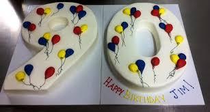 Number Shaped Cake Trefzgers Bakery