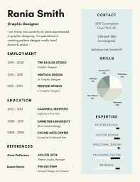 White and Blue Infographic Resume