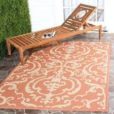 9x12 indoor outdoor rugs courtyard terracotta natural 9 ft x ft indoor outdoor area rug home