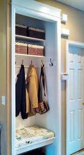 how to turn a small closet into a mudroom google search home in convert coat closet