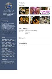 cv video template video editor website template soh ucc