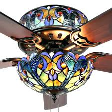 blue ceiling fan river of goods blue stained glass style ceiling fan mahogany on