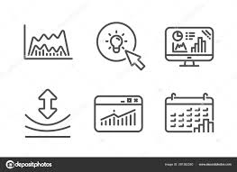 Energy Resilience And Website Statistics Icons Set