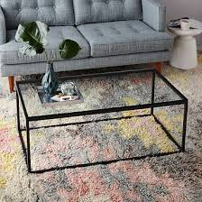 box frame coffee table glass antique