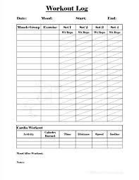 Free Printable Workout Exercise Logs Download Them Or Print