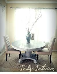 gray round table best vintage gray and white washed round pedestal dining kitchen table concerning grey washed round dining table prepare