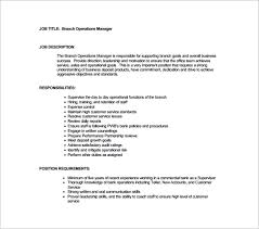 Branch Operations Manager Resume Top 8 Branch Operations Manager