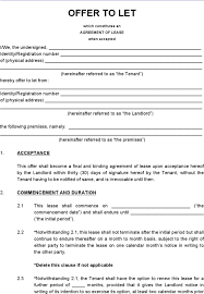 Generic Lease Agreement. Sample Lease Agreement Form Template Lease ...