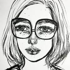 Nerdy Girl Glasses Short Hair