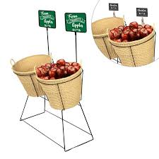 Fruit Display Basket Stand
