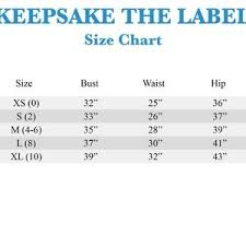 Keepsake The Label Size Chart Trovoadasonhos