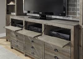 Keeblen Grayish Brown Extra TV Stand from Ashley W678 20