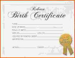 7+ Birth Certificate Template | Survey Template Words