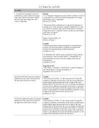 Patent Claim Chart Example Invalidity Claim Chart