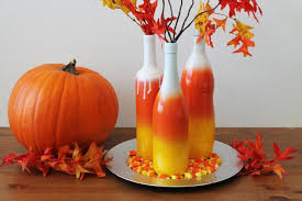6. fall color pallet EXPRESSED artistically in this simple wine bottle  crafts