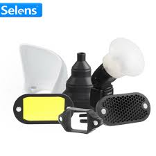 Us 98 35 25 Off Selens Magnetic Flash Accessories Kit 7 Color Filters Honeycomb Grids Sphere Bounce Snoot Grip Lighting Modifier For Speedlite In
