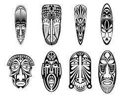 12 Masques Africains Coloriage De Masques Coloriages Pour Enfants
