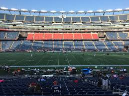 new england patriots seat view for gillette stadium section 132