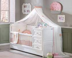Mit integrierter wickelkommode und bettkästen. Babybett Umbaubar In Juniorbett Romantic Online Kaufen Furnart