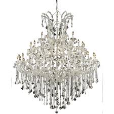 maria theresa 49 light 60 inch chrome foyer ceiling light in clear elegant cut