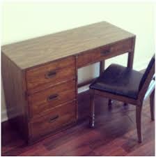 bernhardt campaign style desk original chair