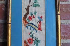 Oriental Needlepoint Handmade by Flora Coffey, 1976 – Mateland's Home Market