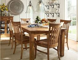 rustic dining room design with wooden pottery barn kitchen tables