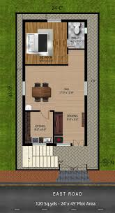 20 40 duplex house plan inspirational 24 45 house plans fresh 40 east facing house