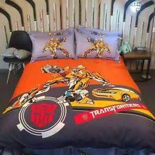 New 2017 Transformers Movie Bedding Set 4pc Queen King Cotton Gift RARE