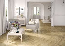 HDF laminate flooring / floating / wood look / for domestic use - ESPIGA  NATURAL