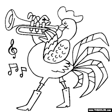 Small Picture Rooster cornet Coloring Page Color Rooster cornet
