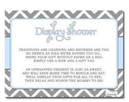 Display Shower Card Bridal Shower Invitation Insert CardDisplay Baby Shower Wording