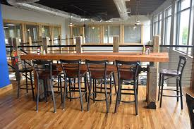 industrial style restaurant furniture. Outstanding Restaurant The Industrial Farmhouse Within Bar Tables Ordinary Style Furniture R